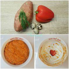 PIURE DE CARTOF DULCE, ARDEI GRAS SI OUA DE PREPELITA - Flaveur Hummus, Wonderland, Ethnic Recipes, Bebe