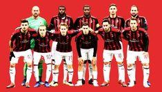AC Milan football team squads Football Squads, Football Team, Milan Football, Professional Football, Ac Milan, Soccer Teams