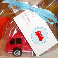 Fire Truck Birthday Party  | Too-Cute Favors | MyRecipes.com