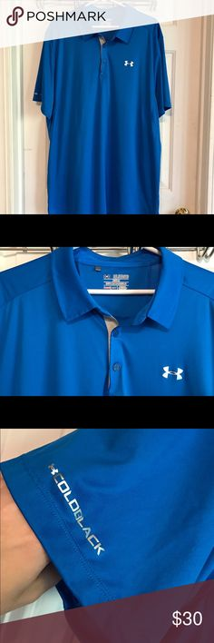 MEN'S Under Armour Shirt Worn once. Royal blue in color. In excellent condition. Under Armour Shirts Polos