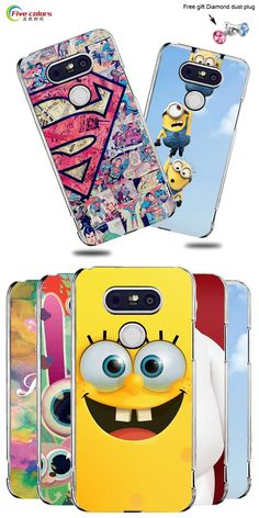 Hot Selling!! 22 Styles Colored Painting Hard Plastic Case For LG G5 Cell phone Case Cover For LG G5 Mobile Phone Bags & Cases