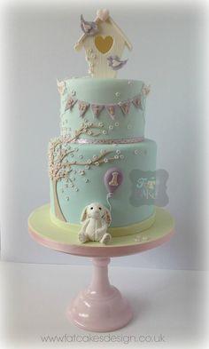 Pretty baby shower/1st birthday cake ♥