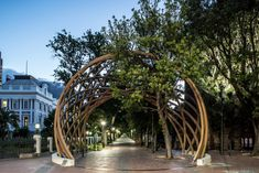 Architecture firms Snøhetta and Local Studio celebrate South African anti-apartheid activist Desmond Tutu with this monumental arch, which was unveiled in downtown Cape Town.