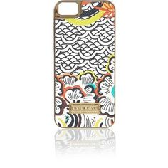 River Island Orange retro print iPhone 5 phone case