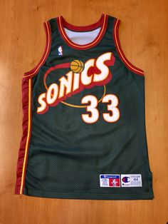 d4ba0629 Vintage 1990s Patrick Ewing Seattle Supersonics Authentic Champion Jersey  Size 44 detlef schrempf sonics oklahoma city thunder nba finals