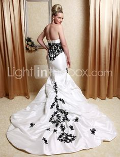 1000 images about mermaid wedding dresses on pinterest for White wedding dress with black accents