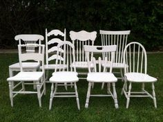 The secret is to paint mismatched dining room chairs in all the same colorin high gloss lacquer!   - Google Search