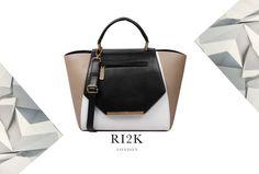 The chic #Isabella work to weekend winged #tote!  #RI2K #RI2KLondon #Handbag #Black #White #Mink #Leather #ShopOnline #ShopRI2K #Fashion #Style #Designer #LeatherBags #ILoveBags