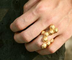 geometric 3D printed ring