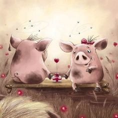 No Johnny, pigs don't pollinate the flowers. - Illustration by Elina Ellis