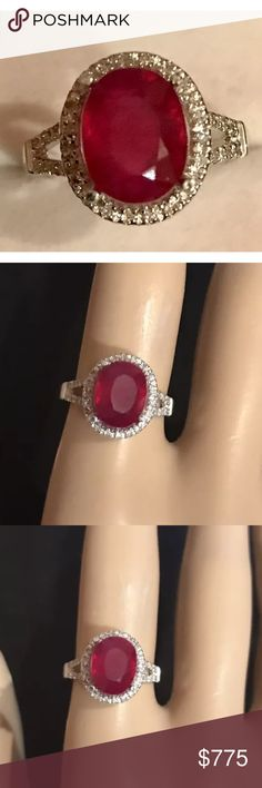 Gorgeous 4.25 carat 14k diamond and ruby ring Gorgeous 4.25 carat 14k diamond and ruby ring Jewelry Rings