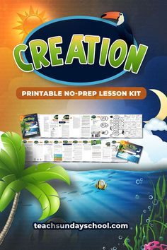 Biblical Creation for Kids: Complete Lesson Kit — Teach Sunday School Preschool Bible Lessons, Bible Lessons For Kids, Bible Activities, Kids Sunday School Lessons, Sunday School Activities, Bible Study For Kids, Kids Bible, Kids Church, Church Ideas