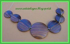 arte in legno - collana in legno di cocobolo