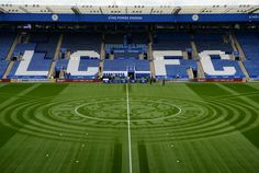 Leicester City wowed fans, social media users and Match of the Day viewers on Sunday with a special King Power pitch design. Chief groundsman John Ledwidge and his team have developed a. Leicester City Football, Leicester City Fc, Football Pitch, Football Stadiums, Jamie Vardy, Match Of The Day, Italian Side, British Football