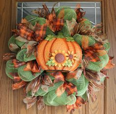 Autumn deco mesh wreath Fall deco mesh by creativecraftsbycher, $83.00
