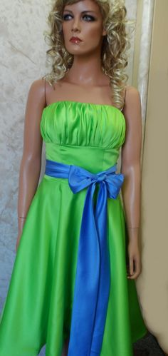 bridesmade dress blue | ... bridesmaid dress with black sash 2084 jaks bridesmaid dresses $ 125