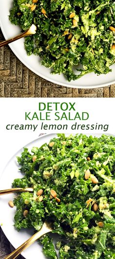 This detox kale salad is all sorts of crunchy & tangy… and it will make your skin glow! …