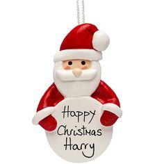 Personalised Handmade Traditional Father Christmas Ornament  from Personalised Gifts Shop - ONLY £9.99