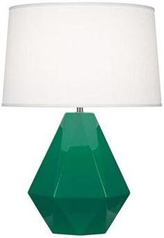 Robert Abbey Delta Emerald Green Table Lamp - Euro Style Lighting