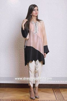 Casual Pakistani Dresses With Tulip Pants Toronto, Mississauga, Canada Stylish Dress Book, Stylish Dresses For Girls, Stylish Dress Designs, Designs For Dresses, Pakistani Fashion Casual, Pakistani Dresses Casual, Pakistani Dress Design, Casual Dresses, Indian Designer Outfits