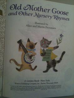 Old Mother Goose Little Golden Book Nursery Rhymes Vintage 1988 Other