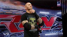 Randy Orton blowing a kiss #WWE #GIF