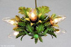 Italiaanse plafonniere 25961 bij Van der Lans Antiek. Meer antieke lampen op www.lansantiek.com