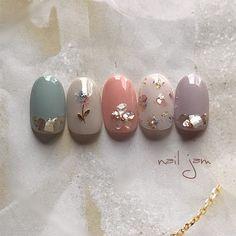 Diy Pretty Nails, Gorgeous Nails, Cute Nails, Beautiful Nail Designs, Cool Nail Designs, Beautiful Nail Art, Nail Art Hacks, Les Nails, Korean Nail Art