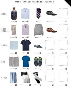 A Capsule Wardrobe for Him