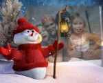 Fotomontajes GRATIS Online Nuevos y SIN registro   Montaje para navidad con un muñeco de nieve bien cool