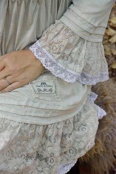 Kleid Tunika von Jeanne d´ Arc Living beige Elfe Romantisch in Kleidung & Accessoires, Damenmode, Blusen, Tops & Shirts | eBay