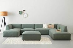 Useful and classy: the modular couch - institution . - Cottage home decor Home Room Design, Living Room Designs, Living Room Sofa, Home Living Room, Sofa Design, Modular Couch, Drawing Room Design, Diy Bed Frame, Home And Deco