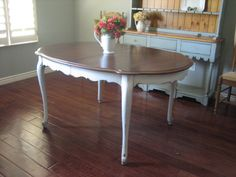 Painted White Distressed Kitchen Tables | Euro European Paint Finishes  Furniture Refinished Repurpose Lacquer .
