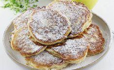 Przepis na puszyste racuchy z jabłkami, które zrobisz bardzo szybko i prosto. To jedne z lepszych placuszków z jabłkami dla dzieci. Jabłka wystarczy zetrzeć na tartce i dodać do ciasta przed smażeniem placków. Polish Recipes, Muesli, Toddler Meals, Sweet Bread, I Foods, Pancakes, Food And Drink, Healthy Eating, Lunch