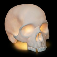 'Goliath' Table Skull Lamp by Alex Garnett. Why don't I already own one of these?!?!?!