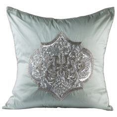 Ogee Ice Blue Decorative Pillow @LaylaGrayce