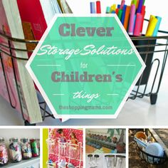 Clever Storage Solutions for Children's Items | keep all the clutter in check and organized with these smart storage solutions.