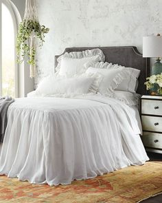 Shop Savannah Bedding from Pine Cone Hill at Horchow, where you'll find new lower shipping on hundreds of home furnishings and gifts. Bed Linen Design, Bed Design, Savannah, Luxury Bedding Sets, Modern Bedding, Chic Bedding, Luxury Bed Linens, Neutral Bedding, Bedding Decor