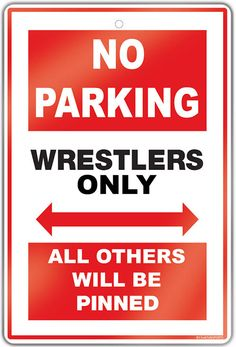 """Create a wrestling theme in any room with this 18"""" X 12"""" aluminum room sign.  A great gift for an avid wrestler, fan or coach!"""