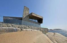 Rock Blending Summer House in Vestfold, Norway