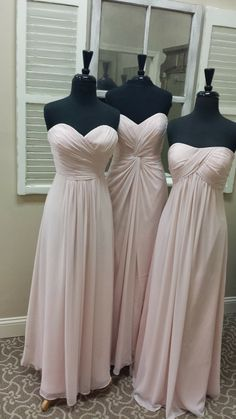 Madeleine's Daughter Blog, My Colors are Blush and Bashful, Chiffon, Bill Levkoff, Petal Pink, Style 165, Style 478, Style 484