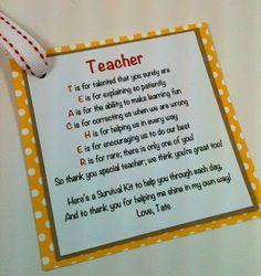 Humorous Survival Kits for Teachers   Back to School Teacher Survival Kit