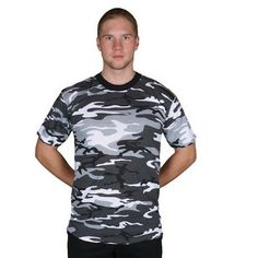 Short Sleeve T-Shirt - Urban Camo $9.53 #Camouflage #UrbanCamouflage http://www.armynavyshop.com/prods/fxo64-19UC.html