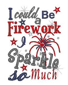 Machine Embroidery design Fourth of July I by EmbellishmentJunkies, $2.15