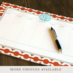 Monogram Desk Planner
