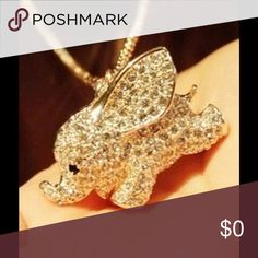 """Beautiful Elephant Necklace Gold. Elephant is approx 1""""X1"""" Jewelry Necklaces"""