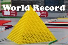 Guinness World Record - Largest Domino 3D Pyramid (27x27)