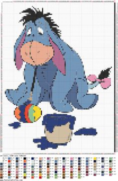 http://ponciar.blogspot.it/ hi ho 2 #Disney #winniethepooh #cross #stitch #puntocruz #puntocroce #schemi #gratis #free #pasqua #easter #PatternMaker #creativo