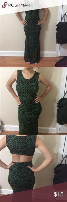 Maxi dress Dark green/black maxi dress Snap Dresses Maxi