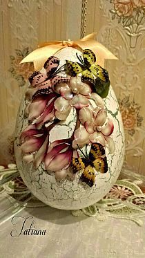 Egg Crafts, Easter Crafts, Owl Art, Easter Eggs, Decoupage, Polymer Clay, Kids Fashion, Handmade, Bling
